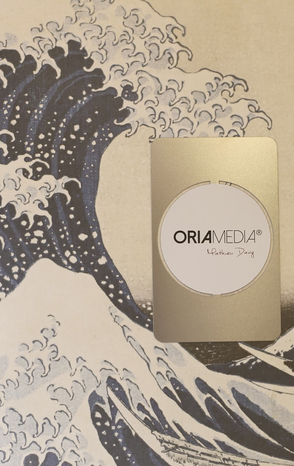 Carte Metal Argent Ironcards Oria Media