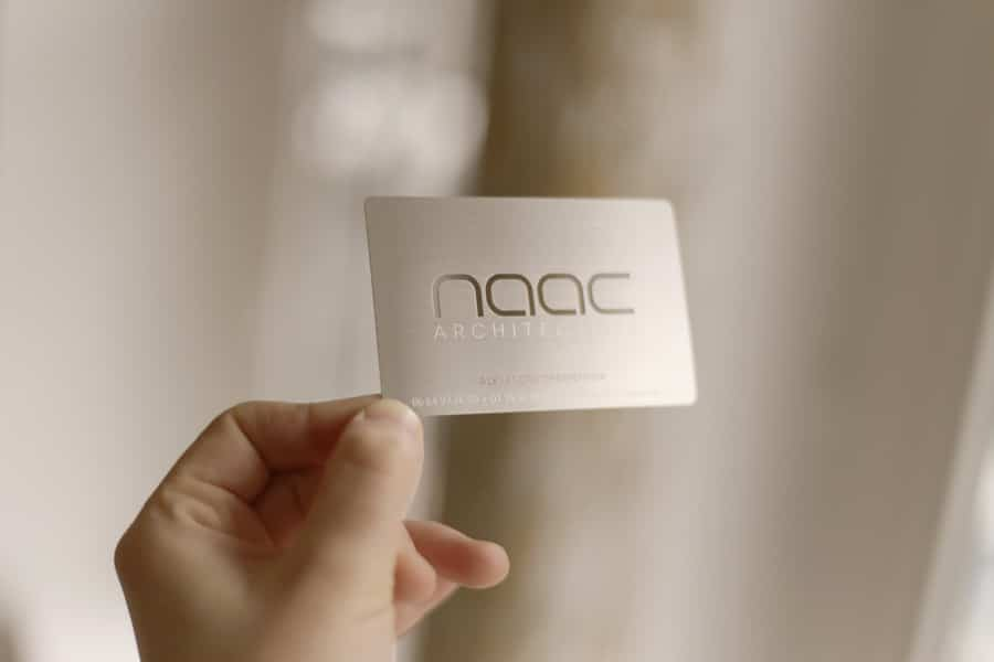 Carte Metal Argent Naac Ironcards